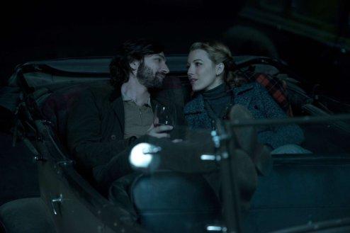 Adaline and Ellis in the car