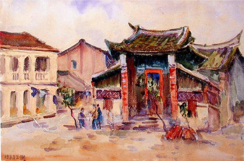 「美術街角」 台北市建成町1丁目244番地—陳植棋《真人廟》(1930年)(下篇)