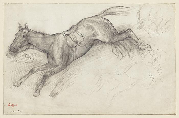 5-Degas Study for Scene from the Steeplechase The Fallen Jockey