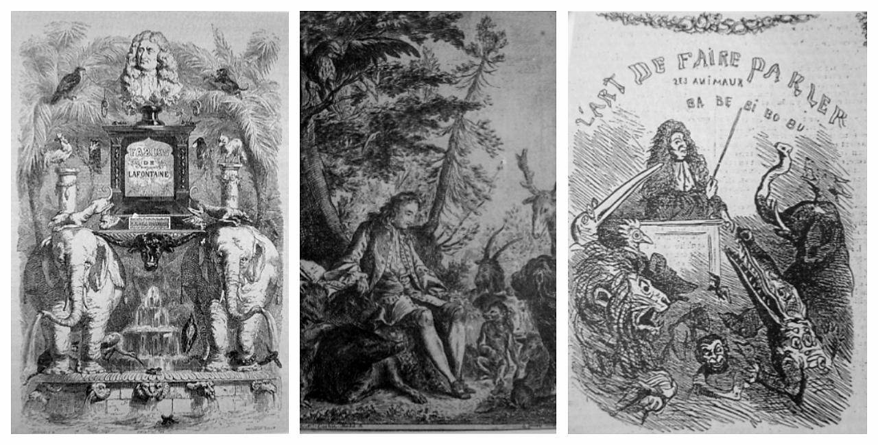 4左至右:Grandville、Cochin、Cham的寓言卷頭插畫