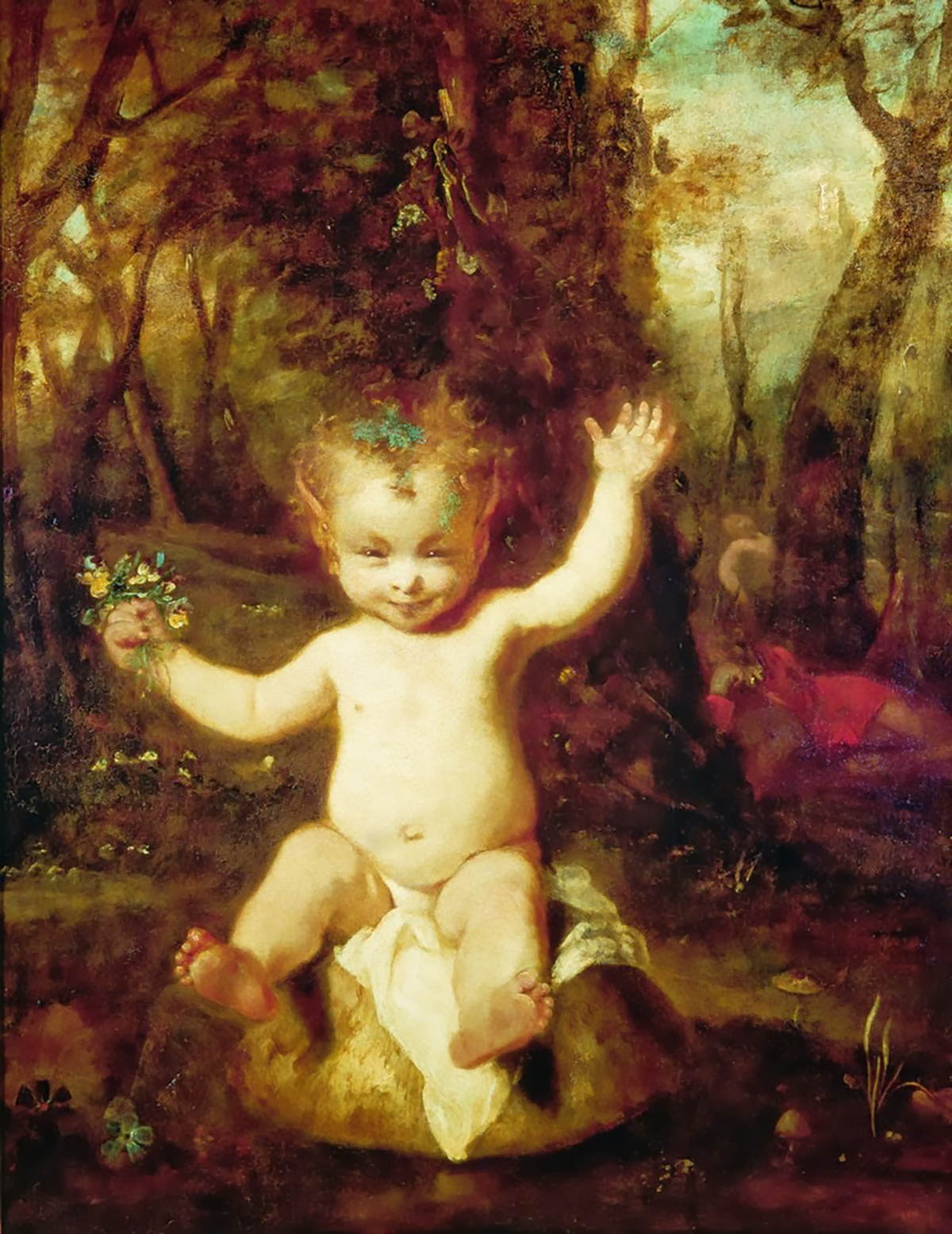【圖1】Sir Joshua Reynolds, Puck, 1789, Oil on canvas, 102×81cm, Private collection