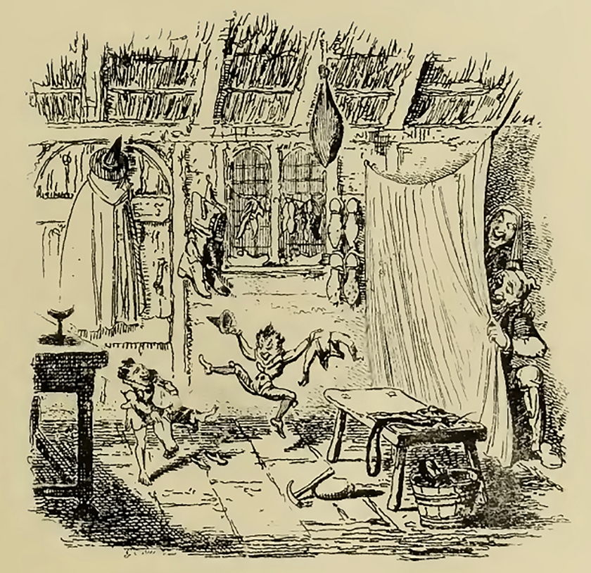 """【圖4】George Cruikshank, """"The Elves and the Shoemaker,"""" from Edgar Taylor_s German Popular Stories Vol. 1, 1823"""