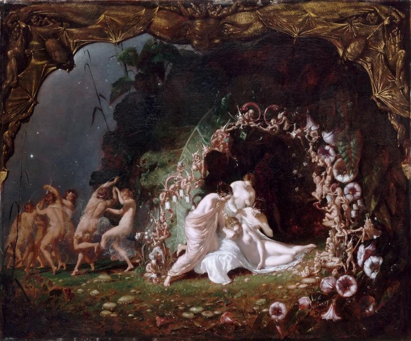【圖5】Richard Dadd, Titania Sleeping, 1841, Oil on canvas, 64×77cm, Musée du Louvre, Paris
