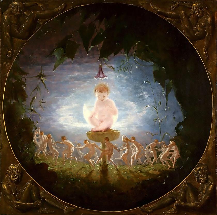 【圖6】Richard Dadd, Puck, 1841, Oil on canvas, 59.2×59.2cm, Harris Museum and Art Gallery, Preston