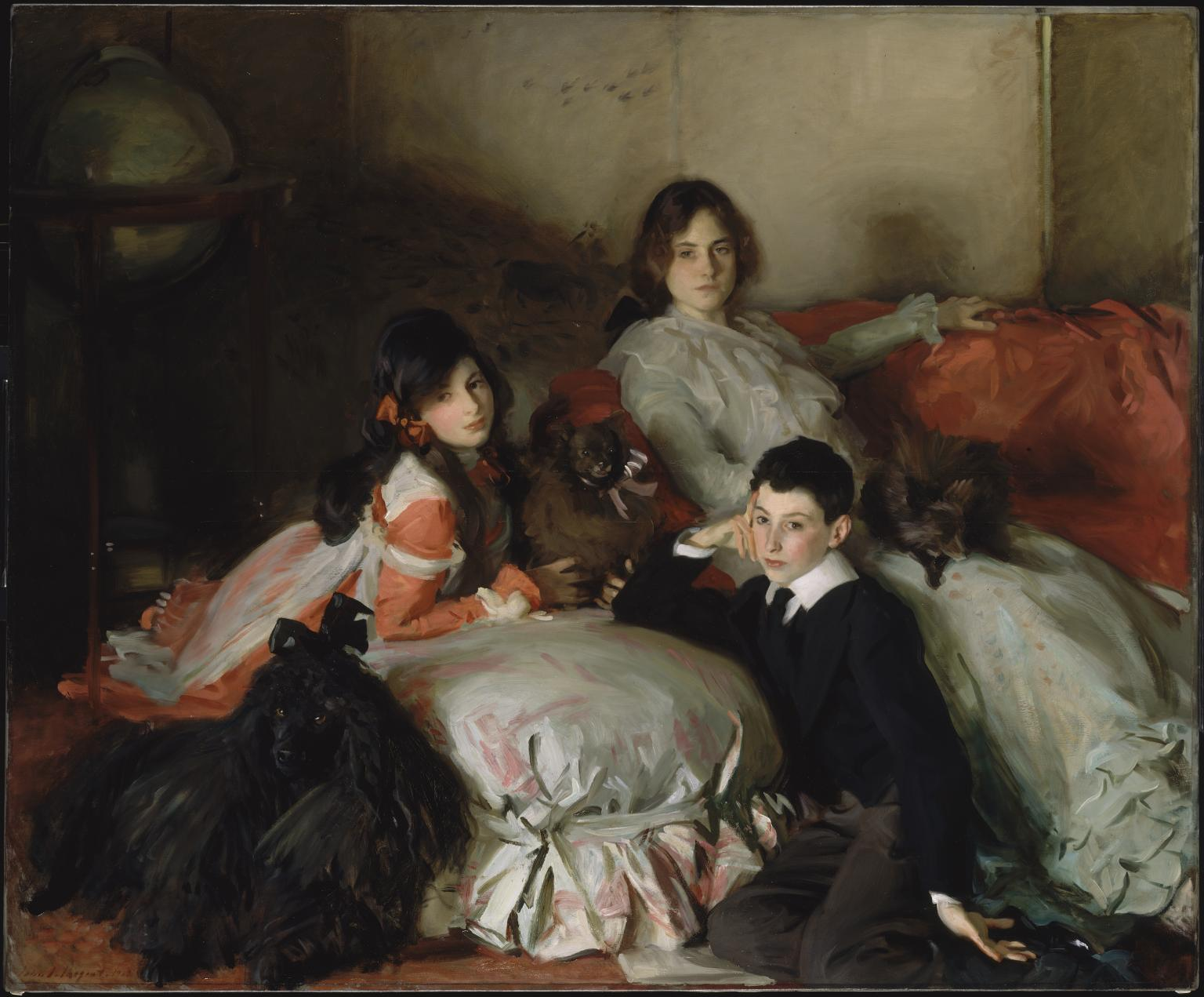 Essie, Ruby and Ferdinand, Children of Asher Wertheimer 1902 by John Singer Sargent 1856-1925