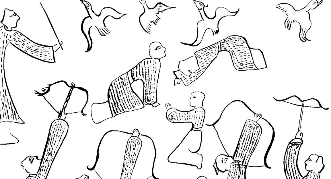 儒化古史的持弓驅禽圖
