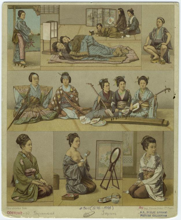 Art and Picture Collection, The New York Public Library. (1876 - 1888). Japanese Women.