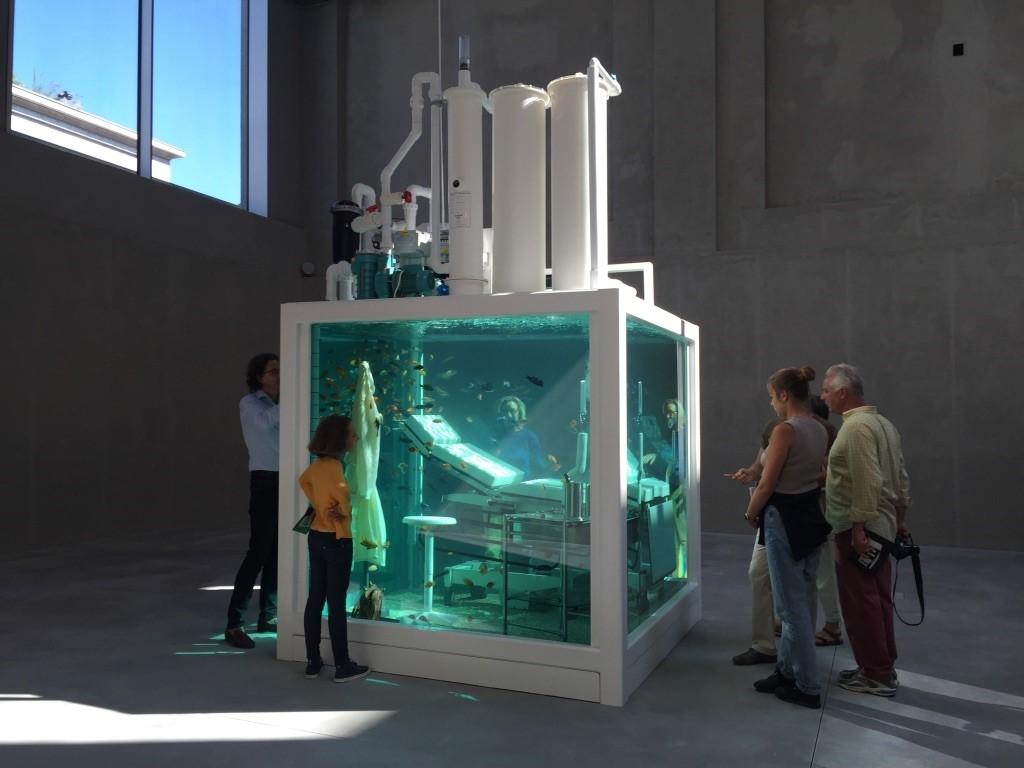 Damien Hirst的水族館婦產科超現實裝置藝術作品『遺失之愛』(Lost love, 2000)