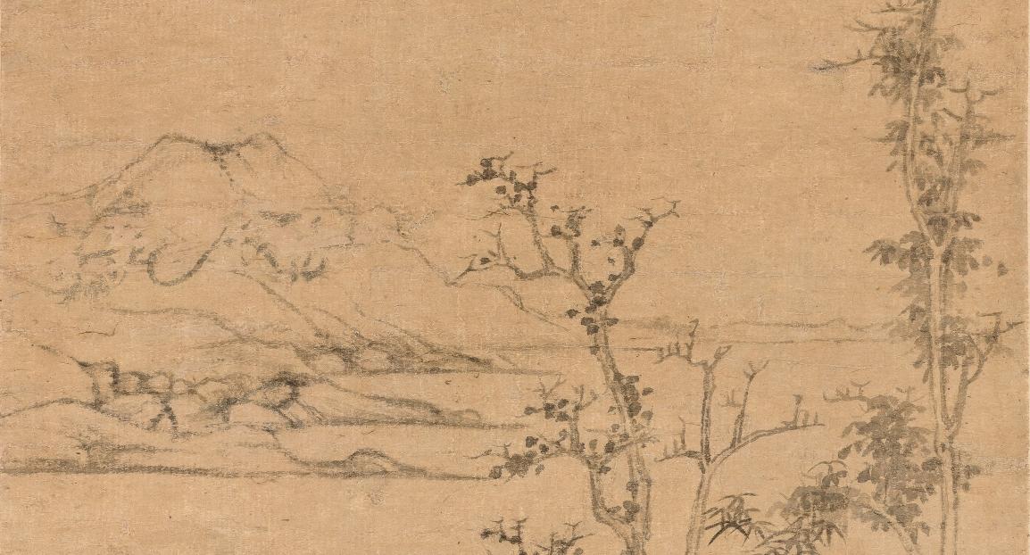 香港中文大學文物館「北山汲古:中國繪畫」展(二):陶鉉孤本《幽亭遠岫圖》