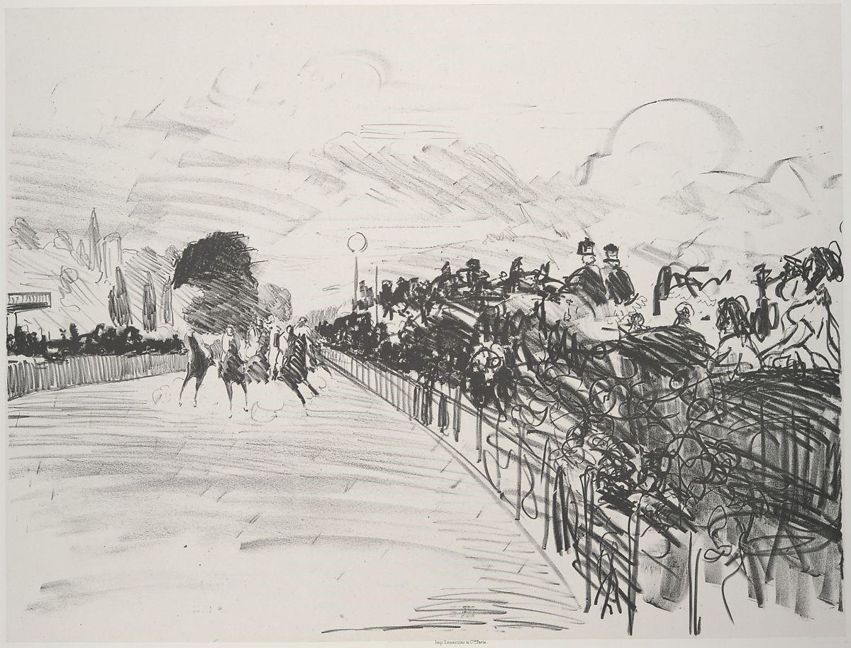 Édouard Manet, The Races at Longchamp