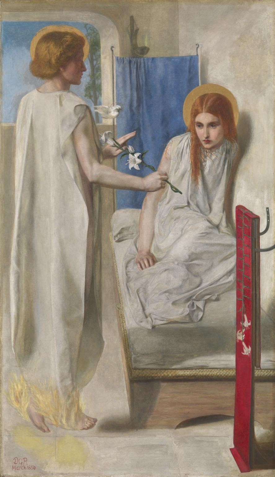 Dante Gabriel Rossetti, Ecce Ancilla Domini! (The Annunciation)