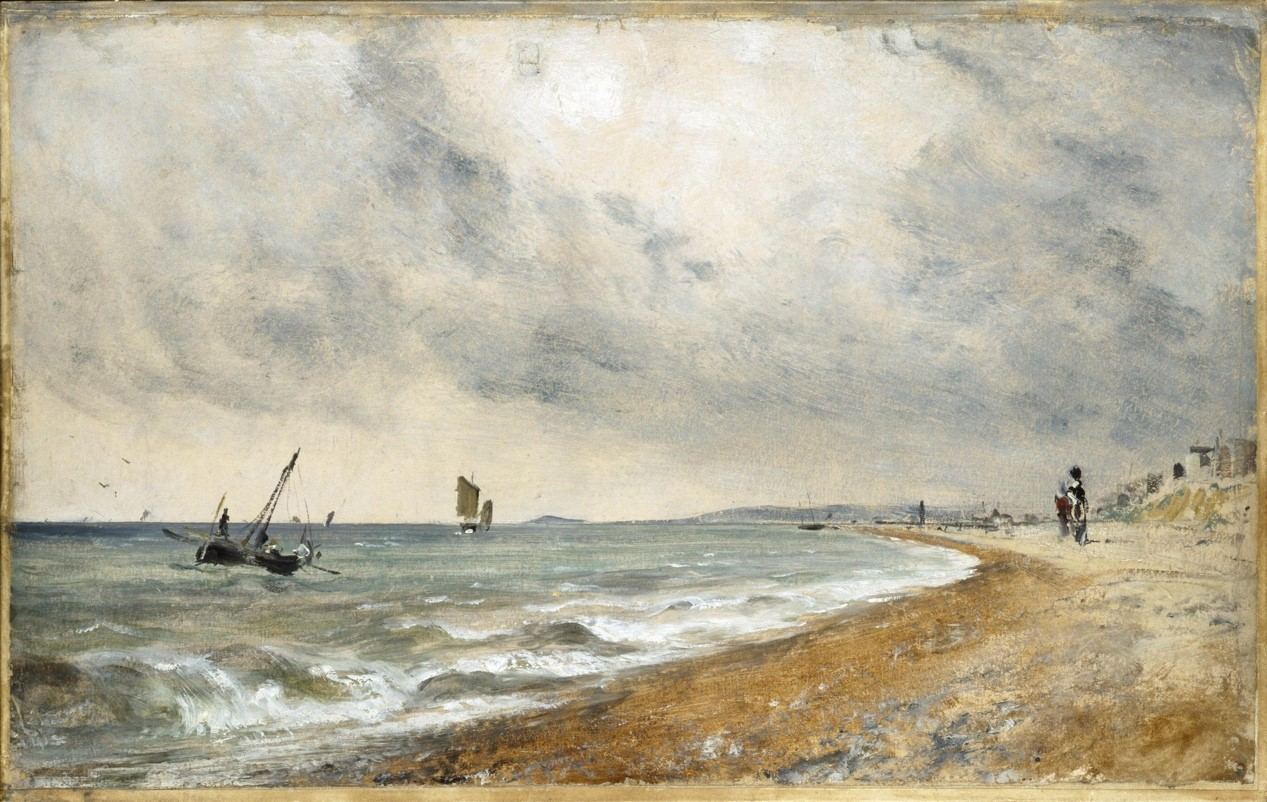 【圖4】John Constable, Hove Beach, with Fishing Boats
