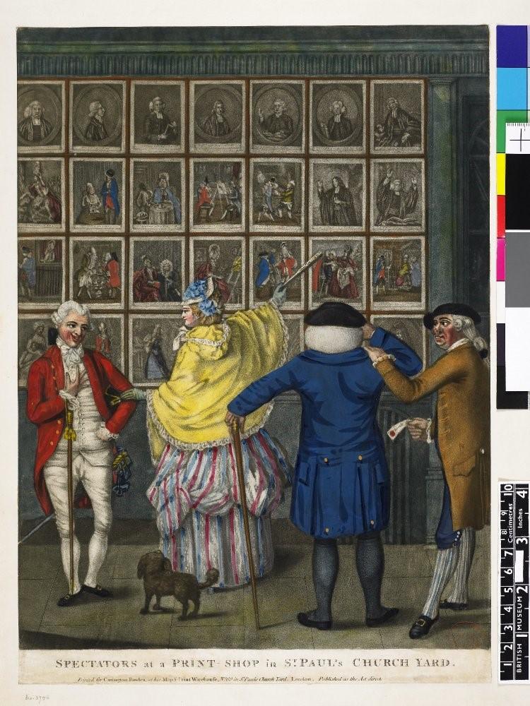 【圖 3】John Raphael Smith, Spectators at a Print-Shop in St. Paul's Church Yard(聖保羅教堂庭院版畫店的觀看者)