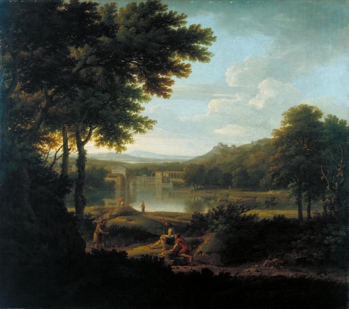 【圖1】George Lambert, Classical Landscape