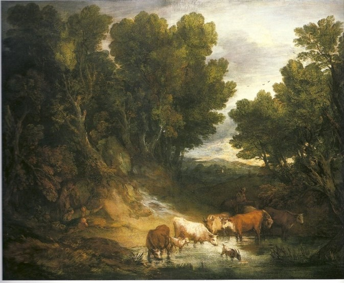 【圖1】Thomas Gainsborough, The Watering Place
