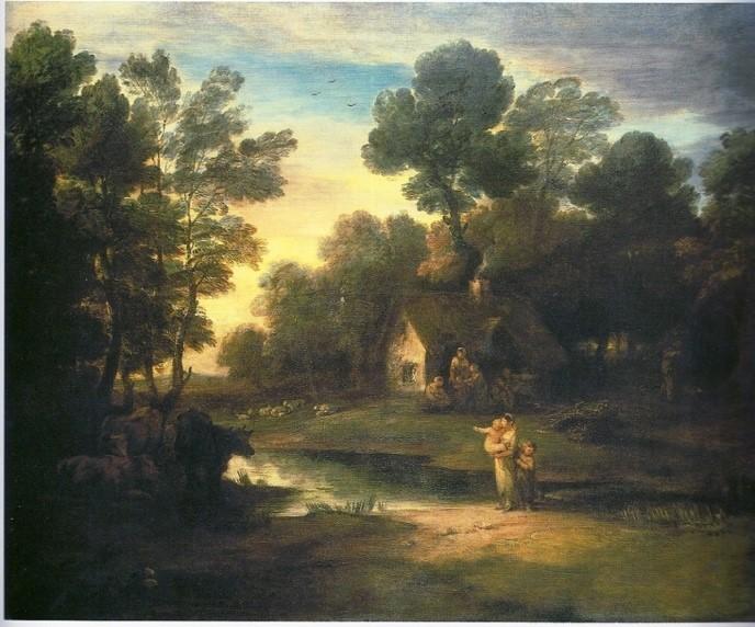 【圖2】Thomas Gainsborough, Wooded Landscape with Cattle by a Pool