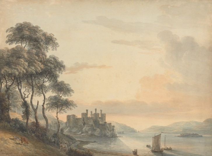 【圖5】Paul Sandby, Conway Castle