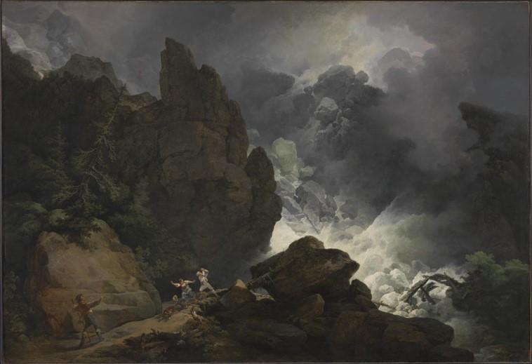 【圖5】Philip James de Loutherbourg, An Avalanche in the Alps