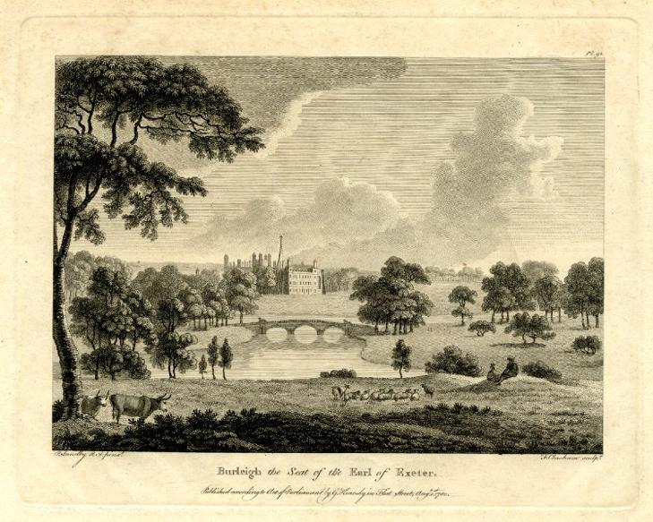 【圖6】Francis Chesham after Paul Sandby, Burleigh the Seat of the Earl of Exeter
