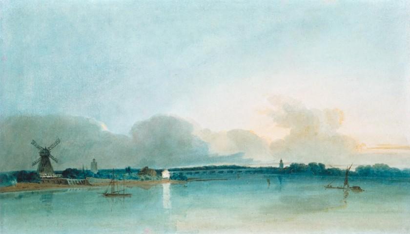 【圖7】Thomas Girtin (1775-1802), The White House at Chelsea