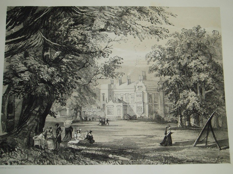 圖1 Charles Radclyffe, 《Perry Barr Hall的景觀》 (Views of Perry Barr Hall, the Seat of John Gough, Esq.)