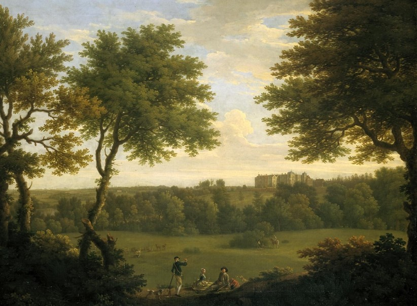 George Lambert, Francis Hayman, View of Copped Hall in Essex, from the Park