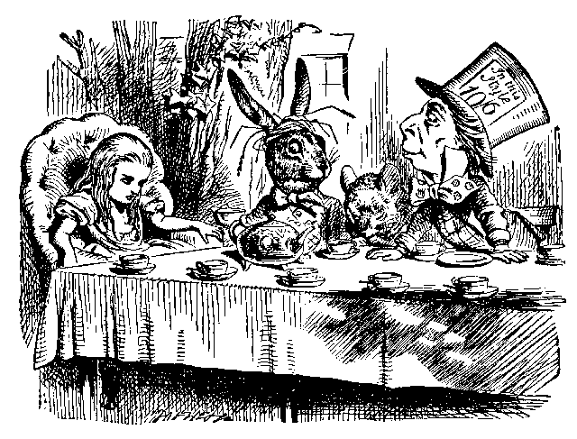 "【圖5】John Tenniel, ""The Mad Tea Party"""
