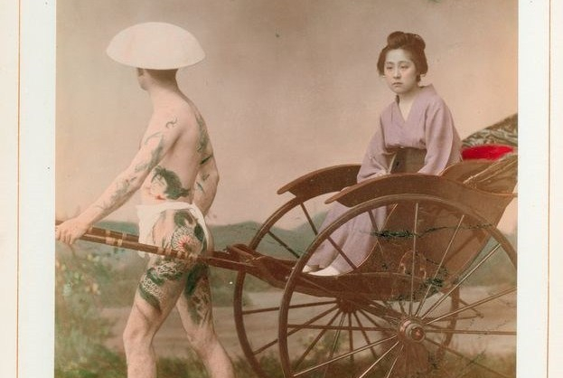 入墨男體: 日本手工上色蛋白照片中的刺青者