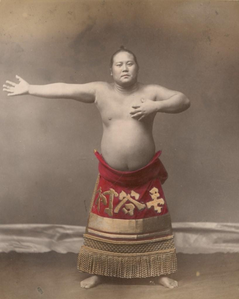 佚名,《一位相撲選手》