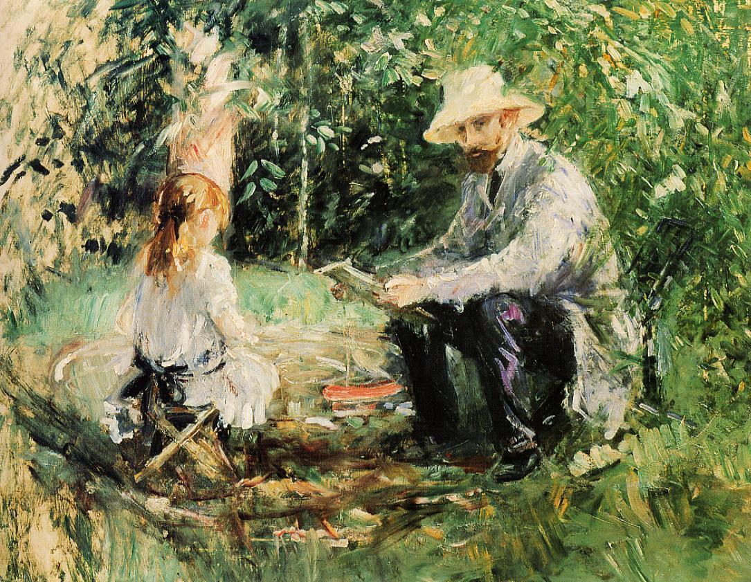 Fig4 MManet et sa fille 1883